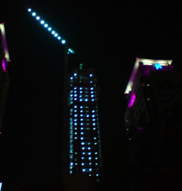 Dubai night building site