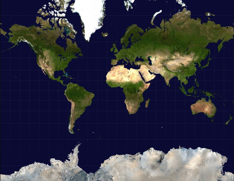 Mercator-projection